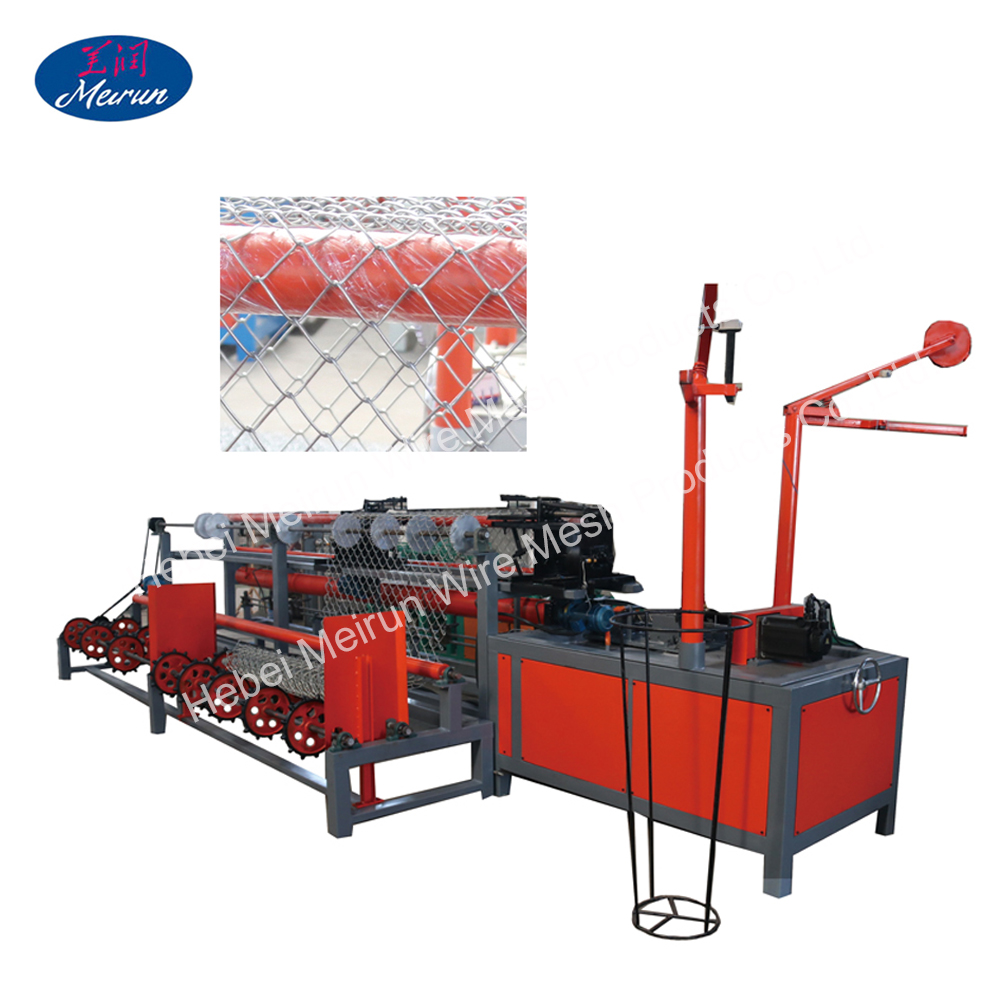 Made in China hot sale high quality cheap PVC coated fully automatic chain link fence making machine