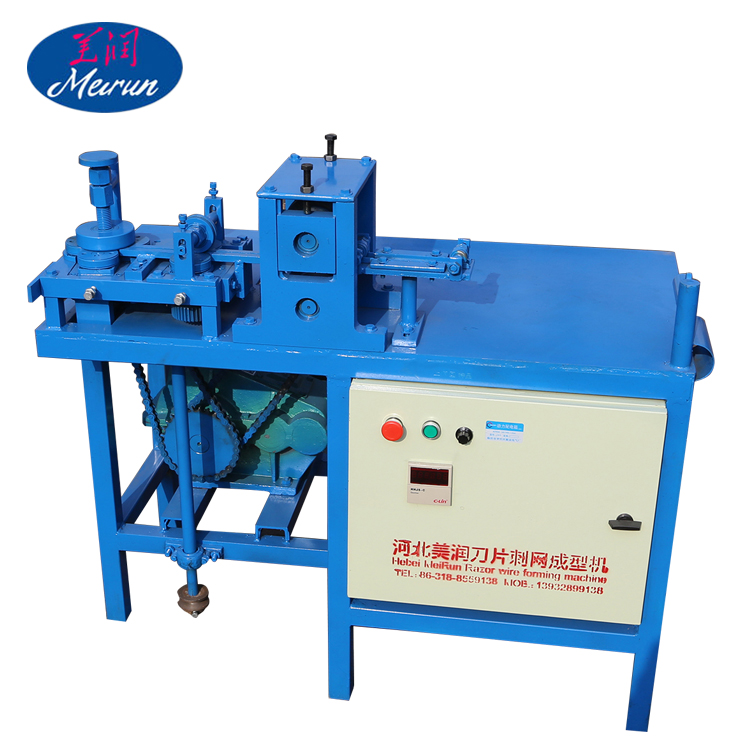 Factory sales fully-automatic razor barbed wire making machine/Concertina barbed razor wire making machine for sale
