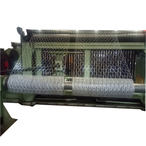 CNC control Hexagonal wire mesh machine / gabion box making machine manufacturing Width customizable