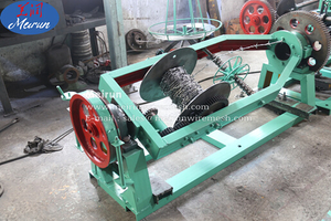 Best Price PVC And Galvanized Steel Barbed Wire Making Machine